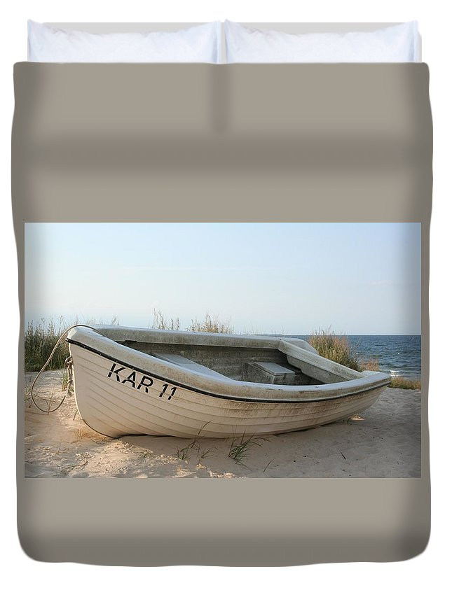 Ship Duvet Cover featuring the photograph Boat by FL collection