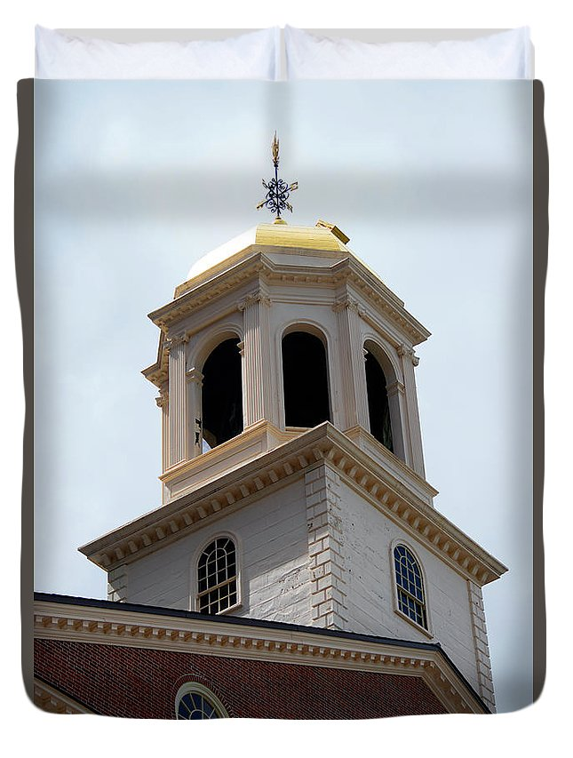 Boston Duvet Cover featuring the photograph Boston Old State House by Michelle Himes