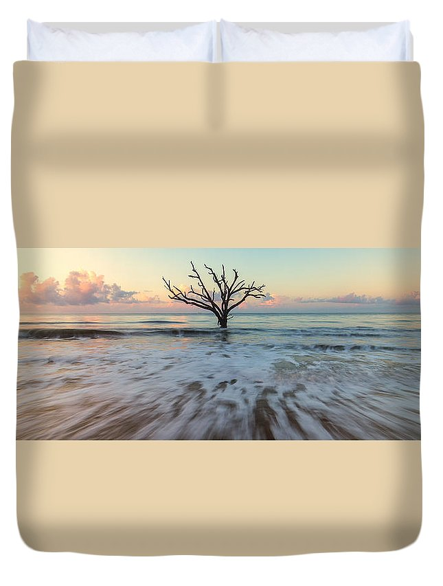 South Carolina Duvet Cover featuring the photograph Botany Bay Morning by Stefan Mazzola