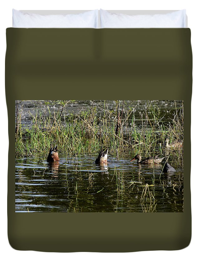 Bottoms Duvet Cover featuring the photograph Bottoms Up by Dwight Eddington