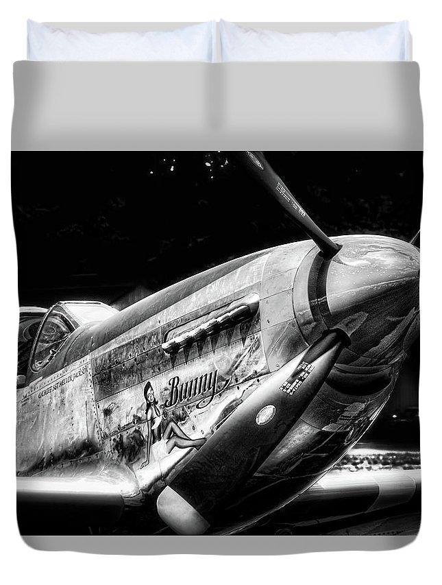 P 51 Warbird Duvet Cover featuring the photograph Bunny by Douglas Craig