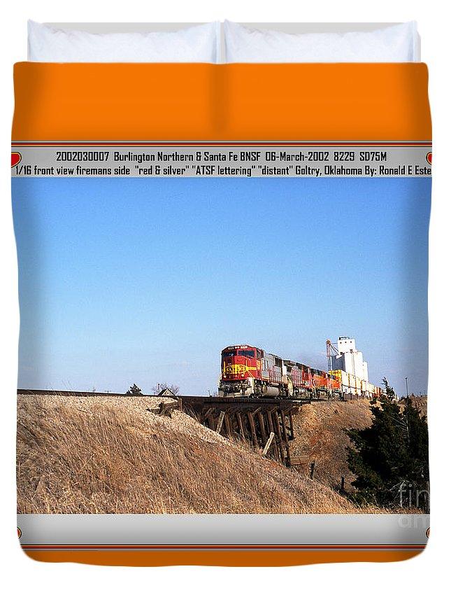 Bnsf Duvet Cover featuring the photograph Burlington Northern Santa Fe Bnsf - Railimages@aol.com by Ronald Estes