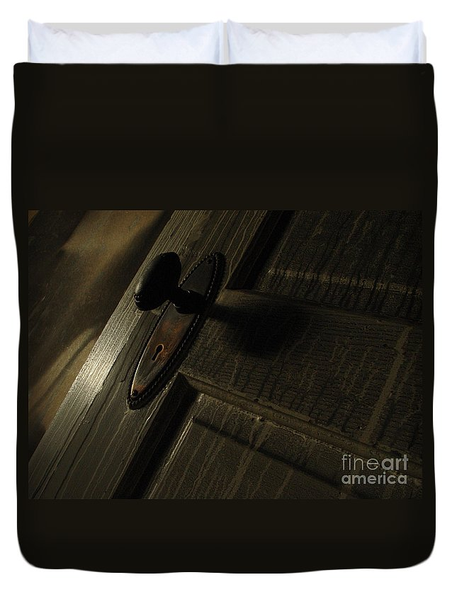 Ghostly Duvet Cover featuring the photograph Burned Knob 02 by Peter Piatt