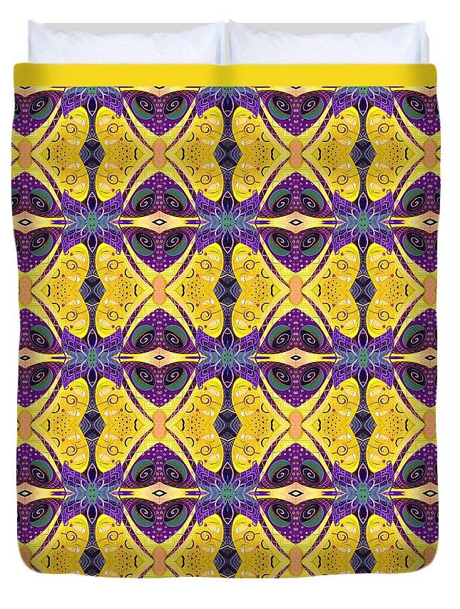 Butterflies Duvet Cover featuring the digital art Butterflies by Helena Tiainen