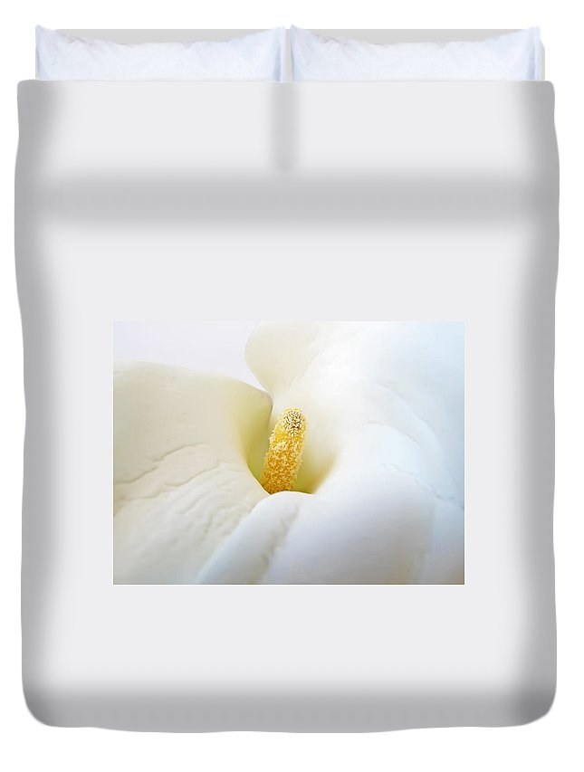 Flower Duvet Cover featuring the photograph Calla by Daniel Csoka