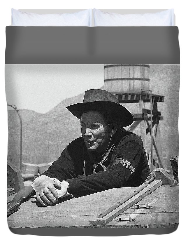 Cameron Mitchell The High Chaparral Set Old Tucson Arizona 1969 Duvet Cover featuring the photograph Cameron Mitchell The High Chaparral Set Old Tucson Arizona 1969 by David Lee Guss
