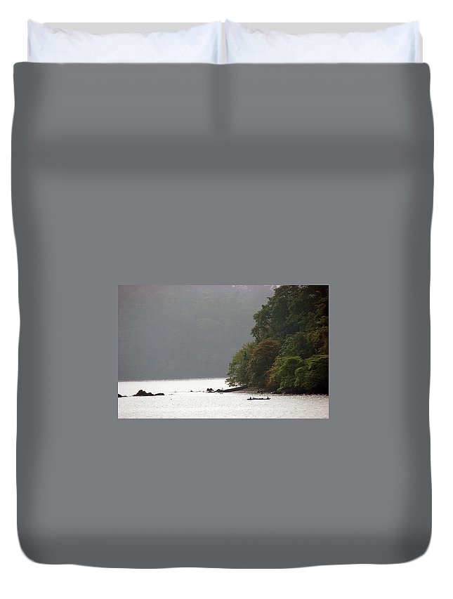 Cameroon Duvet Cover featuring the photograph Cameroon Fisherman Africa by Brett Winn