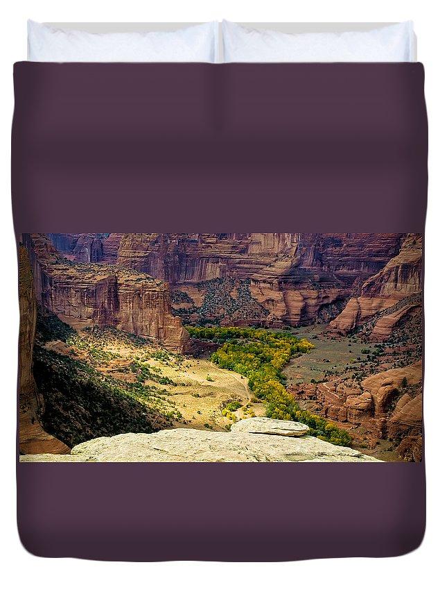 Arizona Duvet Cover featuring the photograph Canyon De Chelly Arizona by Waterdancer