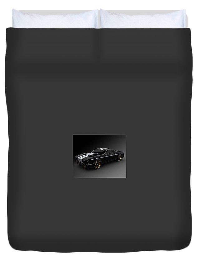 Car Duvet Cover featuring the digital art Car by Dorothy Binder