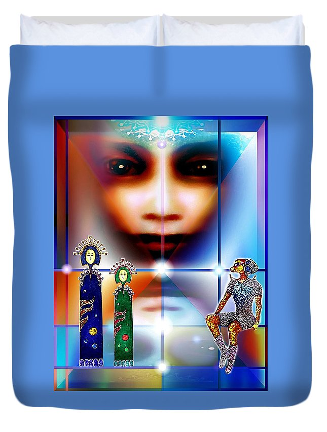 Children Of The Universe Duvet Cover featuring the digital art Children Of The Universe by Hartmut Jager