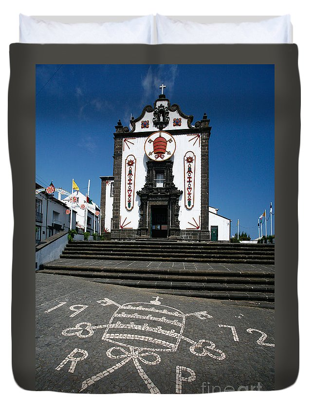 Architecture Duvet Cover featuring the photograph Church In The Azores by Gaspar Avila