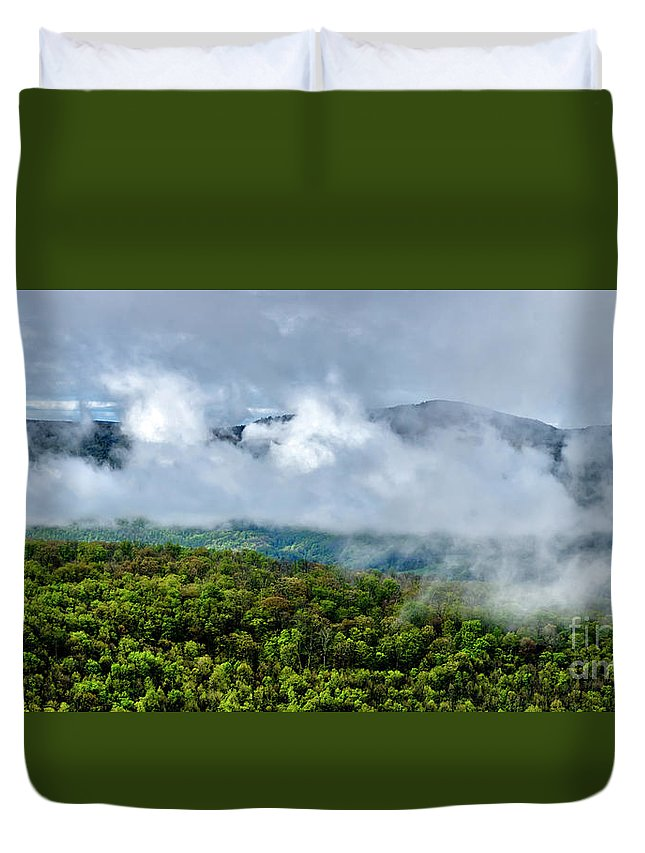 Spring Duvet Cover featuring the photograph Clearing Storm West Virginia Highlands by Thomas R Fletcher