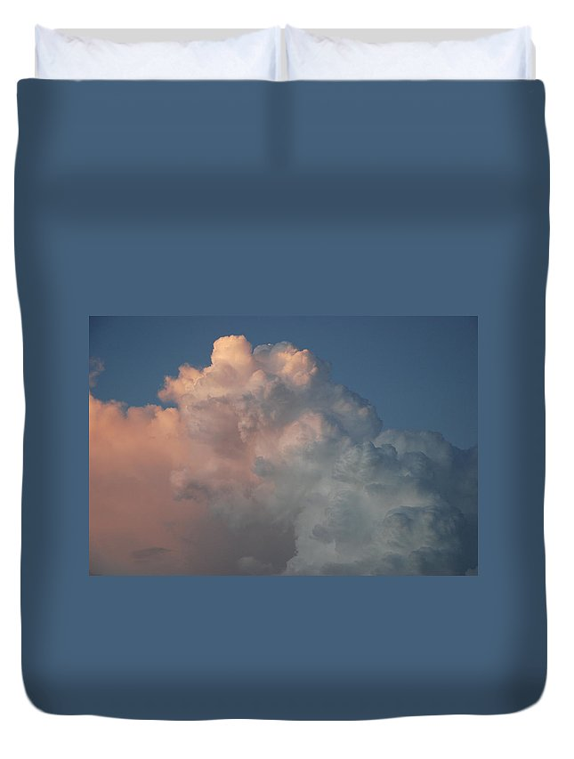 Clouds Duvet Cover featuring the photograph Cloudy Day by Rob Hans