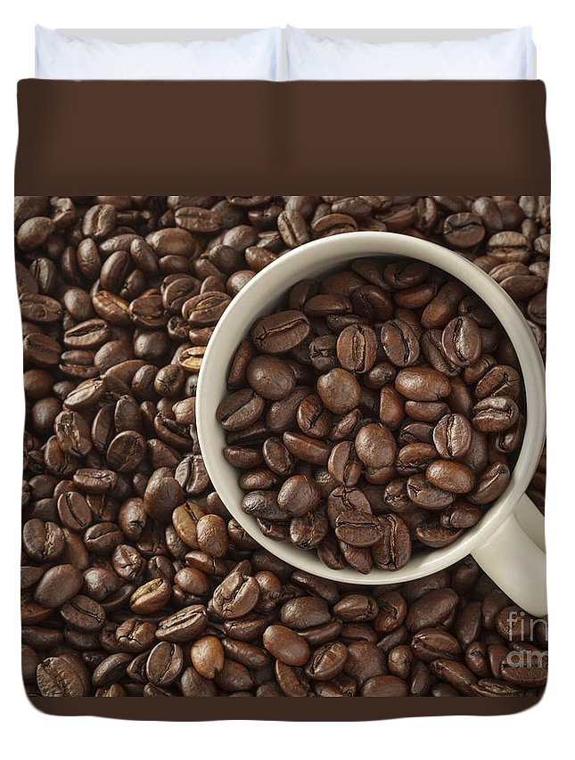 Beans Duvet Cover featuring the photograph Coffee Beans by Julie Woodhouse