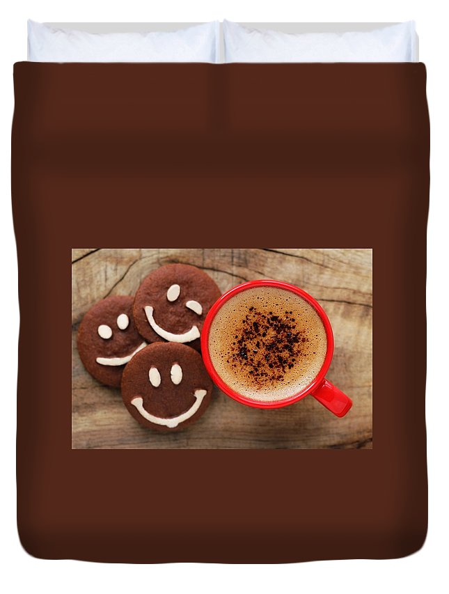 Coffee Duvet Cover featuring the digital art Coffee by Bert Mailer