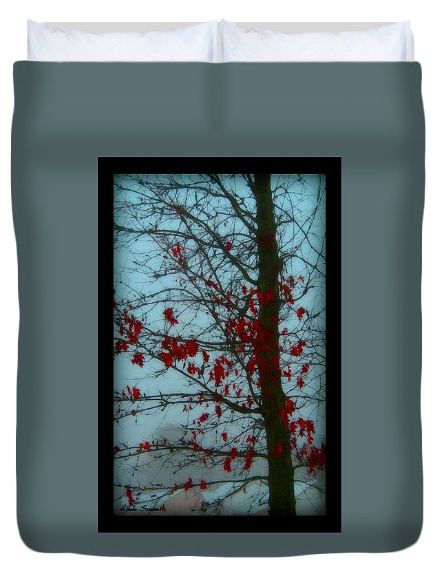Tree Winter Nature Duvet Cover featuring the photograph Cold Day In Winter by Linda Sannuti
