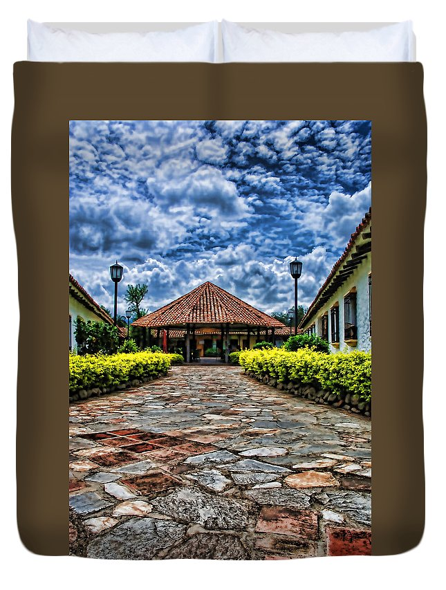 Colonial Duvet Cover featuring the photograph Colonial House by Galeria Trompiz