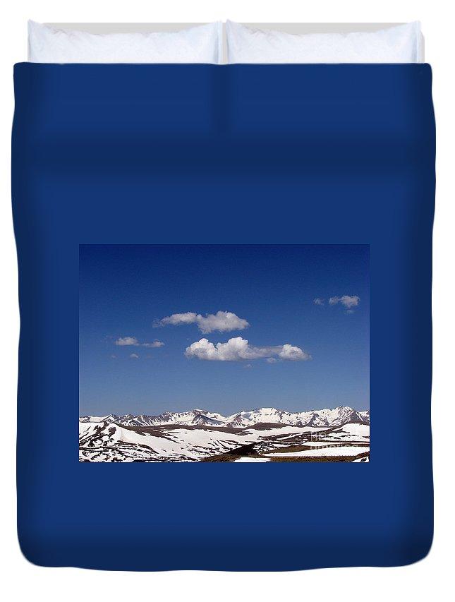 Mountains Duvet Cover featuring the photograph Colorado by Amanda Barcon