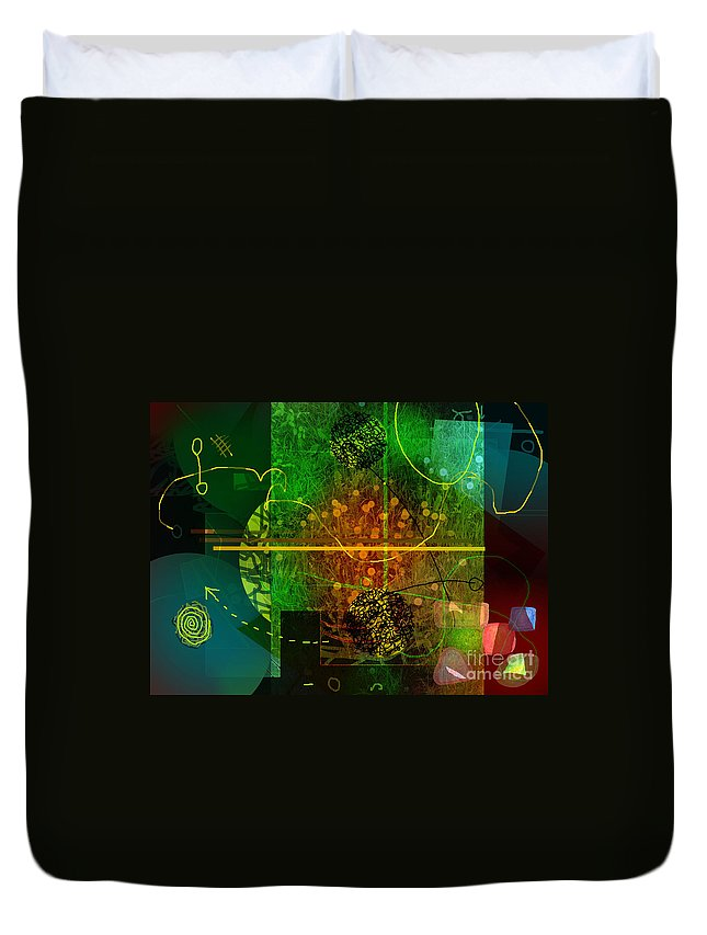 Colorscope Duvet Cover featuring the digital art Colorscope by Andy Mercer