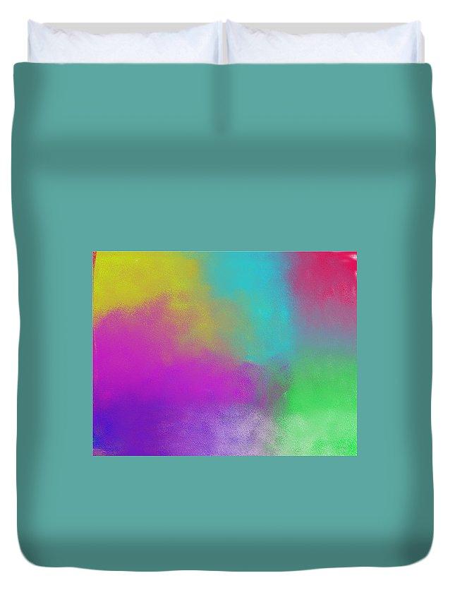 Colours Duvet Cover featuring the digital art Colours by Kseniia Tiazheva