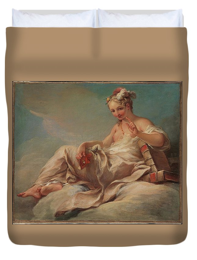 Pierre Charles Trmolires Comedy Duvet Cover featuring the painting Comedy by Pierre Charles Trmolires