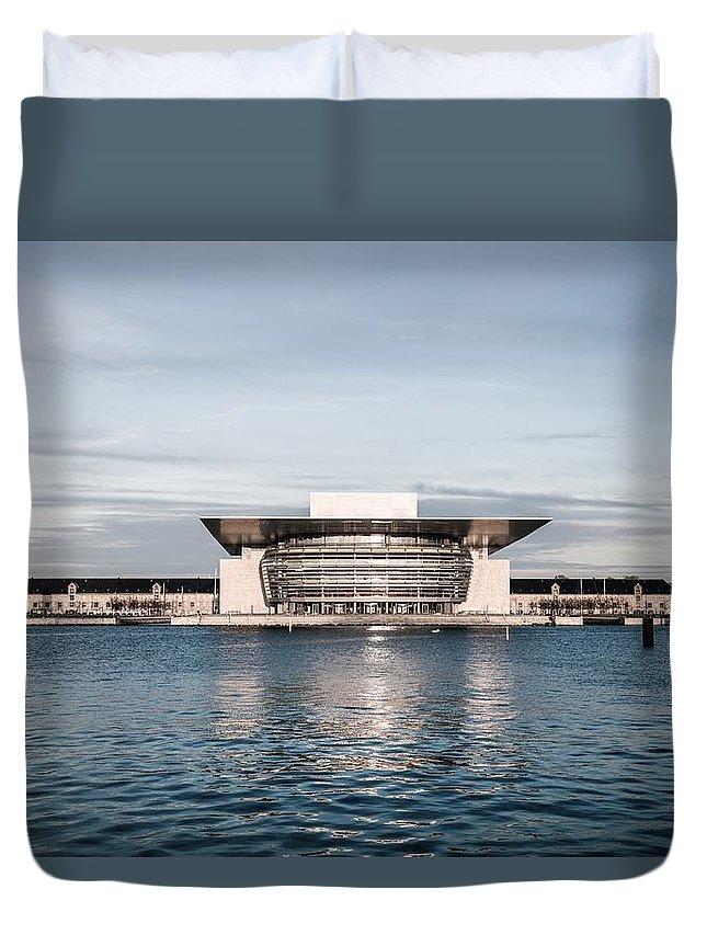Copenhagen Duvet Cover featuring the photograph Copenhagen Opera House by Leonardo Patrizi