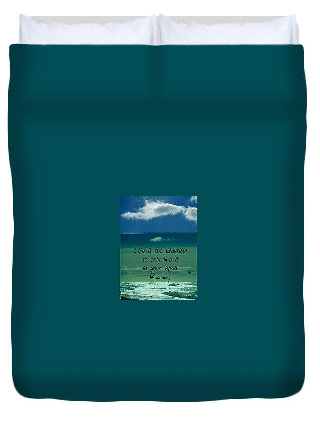 Corey Rockafeler Duvet Cover featuring the digital art Corey Rockafeler - Inspirational by Corey Rockafeler