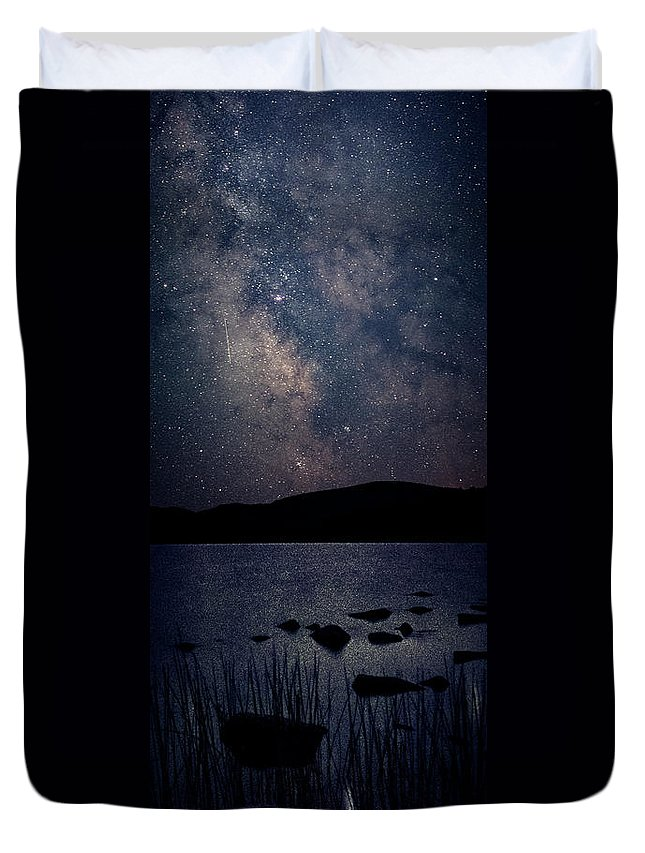 Maine Duvet Cover featuring the photograph Cosmic Fantasy by Robert Fawcett