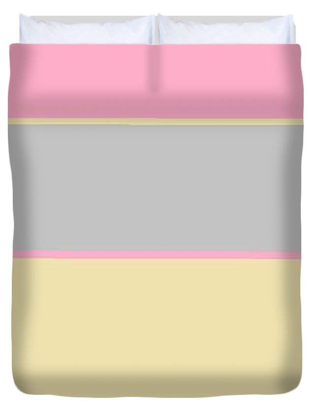 Cream Pink Grey 5 Duvet Cover For Sale By Linda Velasquez