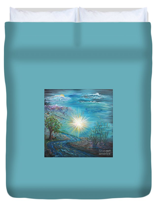 Creation Duvet Cover featuring the painting Creation by Nadine Rippelmeyer
