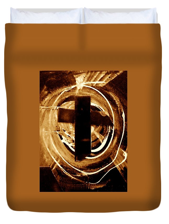 Cross Duvet Cover featuring the photograph Cross by Danielle Valencia D
