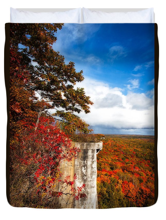 Manitoulin Duvet Cover featuring the photograph Cup N Saucer-2 by Allan Hillman