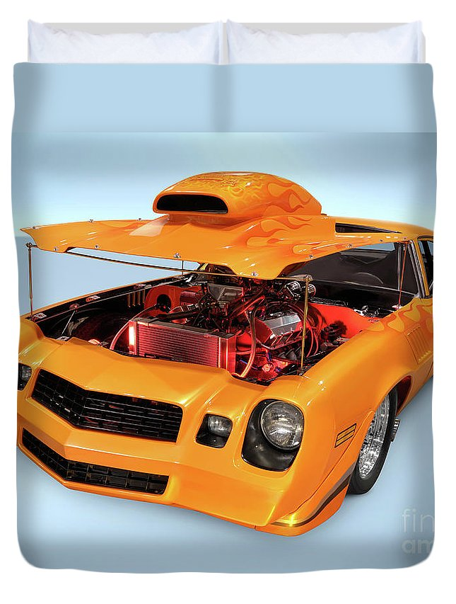 Car Duvet Cover featuring the photograph Custom Muscle Car by Maxim Images Prints