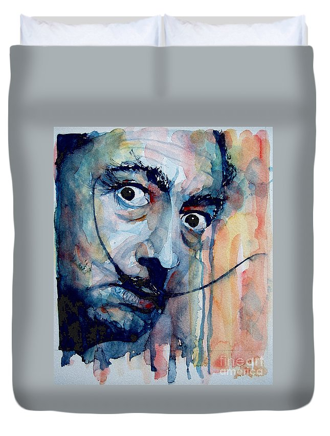 Salvador Dali Duvet Cover featuring the painting Dali by Paul Lovering