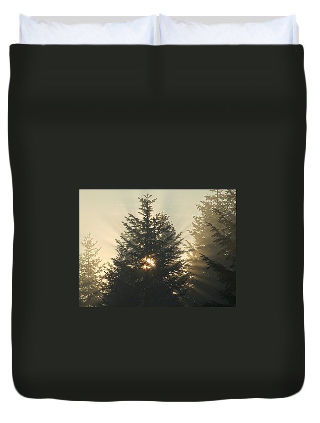 Nature Duvet Cover featuring the photograph Dawn by Daniel Csoka