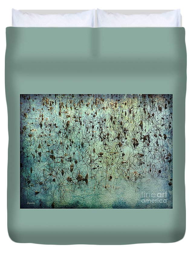Dead Lotuses Duvet Cover featuring the photograph Dead Lotuses by Eena Bo