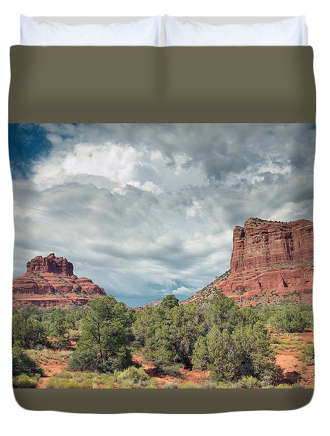 Sedona Duvet Cover featuring the photograph Desert View, Sedona, Arizona by American School