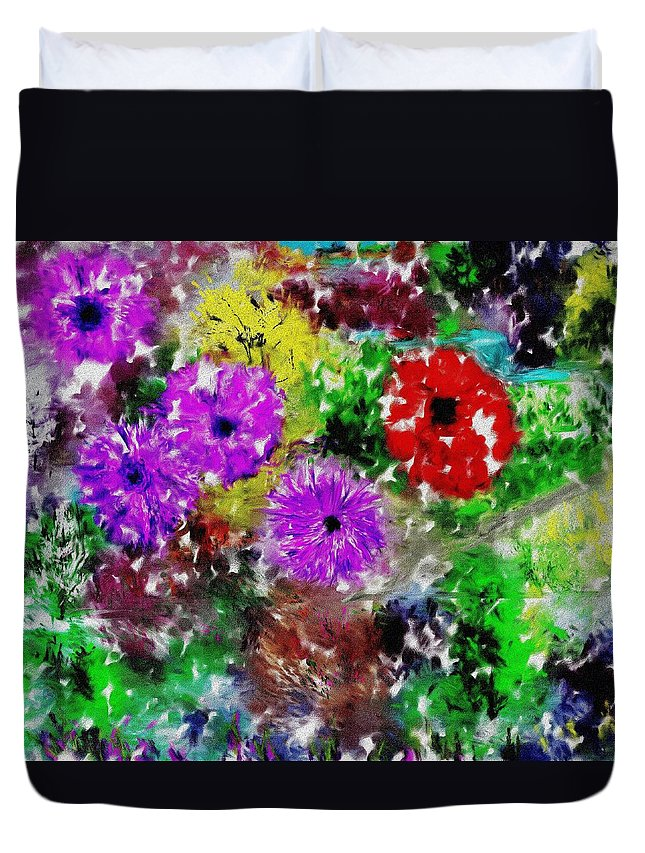 Landscape Duvet Cover featuring the digital art Dream Garden II by David Lane