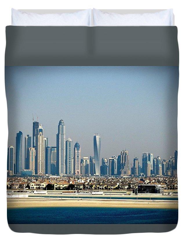 Dubai Duvet Cover featuring the photograph Dubai Skyline by Lloyd Southam Sebire