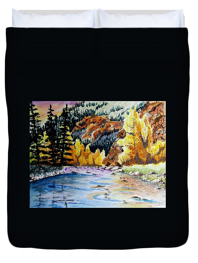 Creek Duvet Cover featuring the painting East Clear Creek by Jimmy Smith