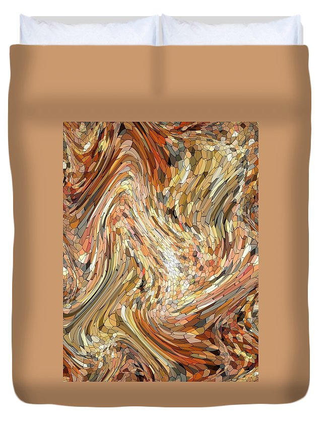 Abstract Duvet Cover featuring the photograph Ebb And Flow by Mark Sellers