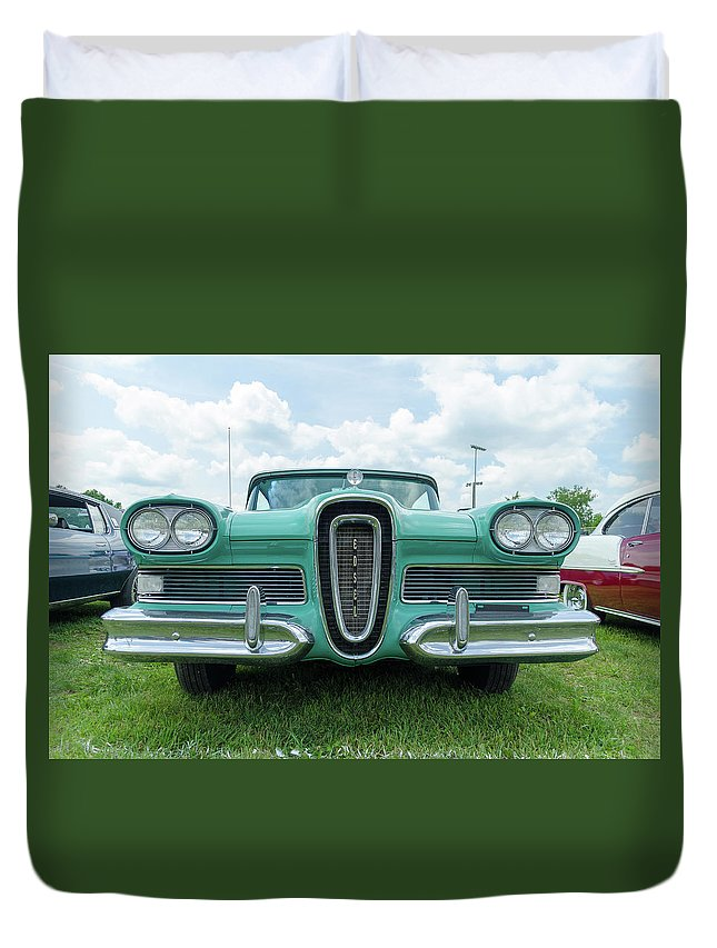 Gaetano Chieffo Duvet Cover featuring the photograph Edsel by Gaetano Chieffo