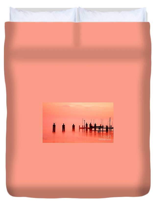Clay Duvet Cover featuring the photograph Eery Morn' by Clayton Bruster