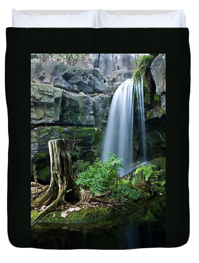 Fairy Duvet Cover featuring the photograph Enchanted Waterfall by Douglas Barnett