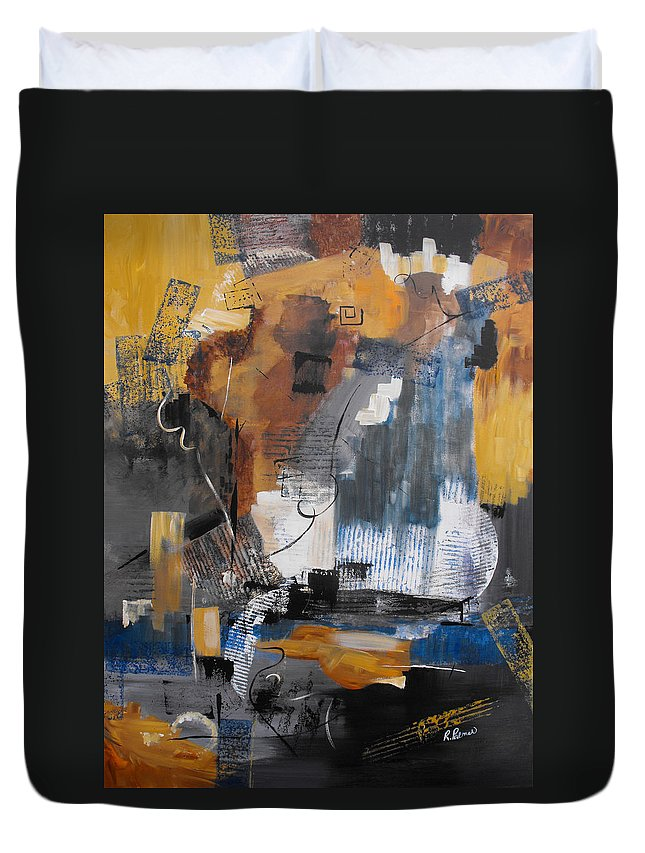 Abstract Duvet Cover featuring the painting Energy by Ruth Palmer