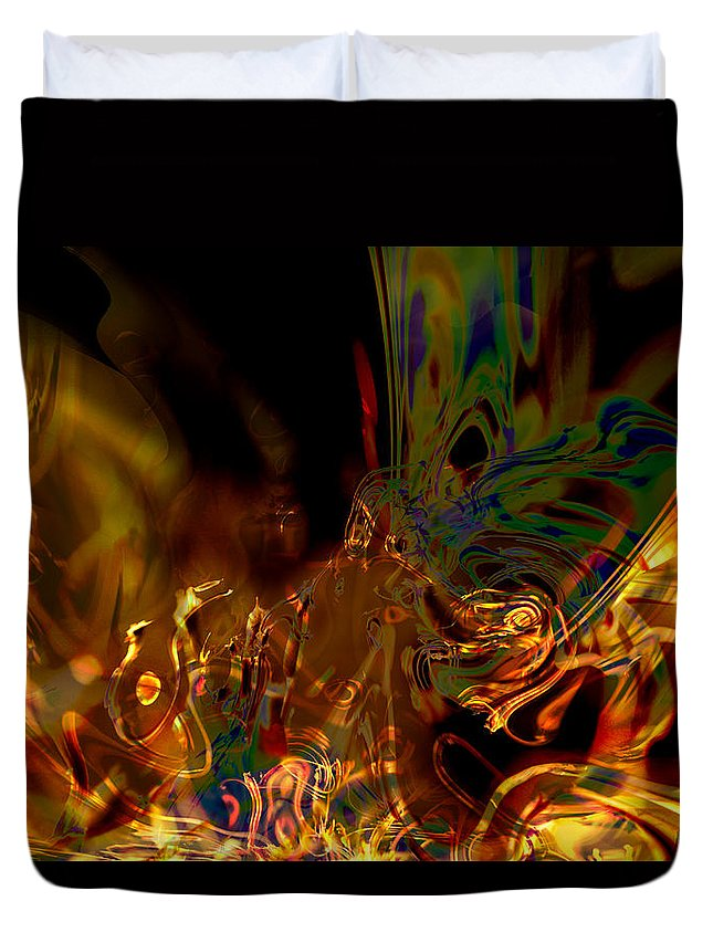 Abstract Duvet Cover featuring the digital art Enlightenment by Richard Thomas