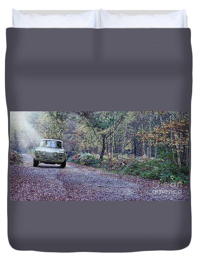 Ford Duvet Cover featuring the photograph Escort Rally by Roger Lighterness