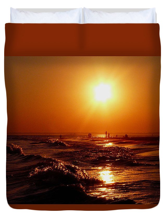 Sunset Duvet Cover featuring the photograph Extreme Blazing Sun by Kendall Eutemey
