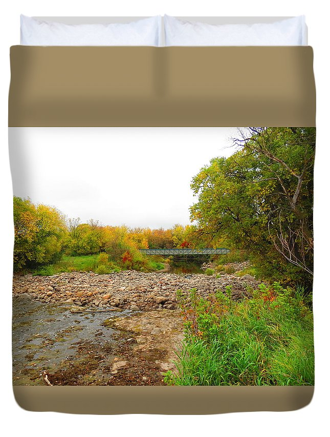 Fall Duvet Cover featuring the photograph Fall by Creations by Shaunna Lynn