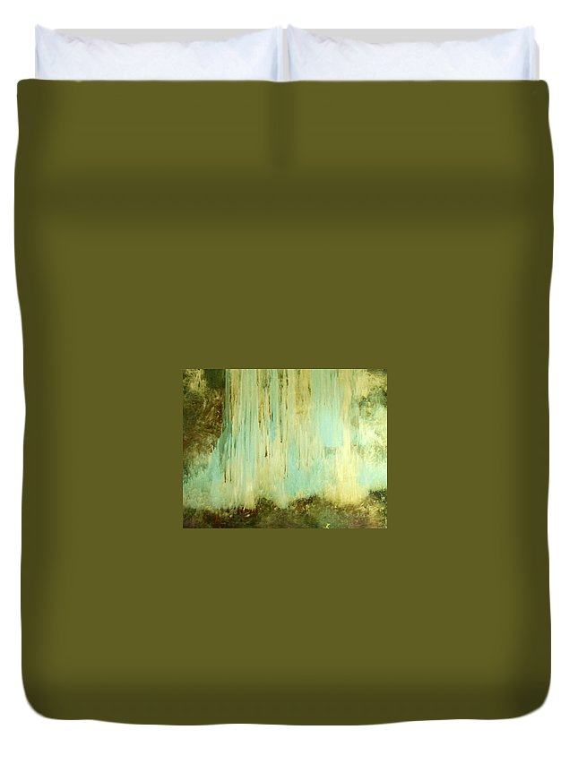 Waterfall Duvet Cover featuring the painting Falling Water Series by Dale Wilhite